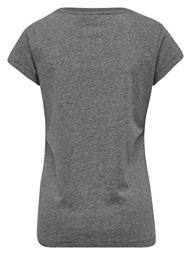 Hummel Damen T-Shirt Georgina SS Tee 19425 Dark Grey Melange