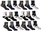 #9: Jedinz Men & Women Ankle Length Socks (Pack of 18)