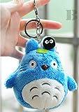 Channeltoys - 1pcs Plüsch Schlüsseltür - Mein Nachbar Totoro - Blau - 10 cm - neun