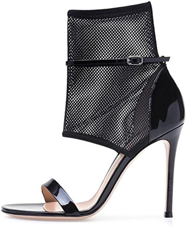 e3b899aa029ed3 l'shinik des chaussures sandales de talon aiguille bout ouvert européen  européen européen et américain des sandales à talons haut mesdames noir...b07cvz3qg3  ...