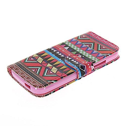 MOONCASE Coque en Cuir Portefeuille Housse de Protection Étui à rabat Case pour Apple iPhone 6 (4.7 inch) A15810