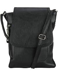 Pink Rose - Elegant Collection Black Charm Sling Bag For Women/Men