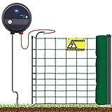 VOSS.farming Hundezaun Starterset Elektrozaun | anschlussfertiges Elektronetz für Hobbyzaun und Gartensicherung |Ideal für Einzäunungen in Ihrem Garten