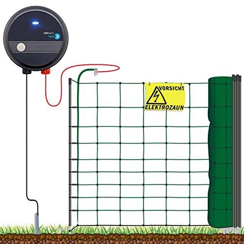 VOSS.farming Hundezaun Starterset Elektrozaun, anschlussfertiges Elektronetz f�r Hobbyzaun und Gartensicherung ideal f�r Einz�unungen in Ihrem Garten