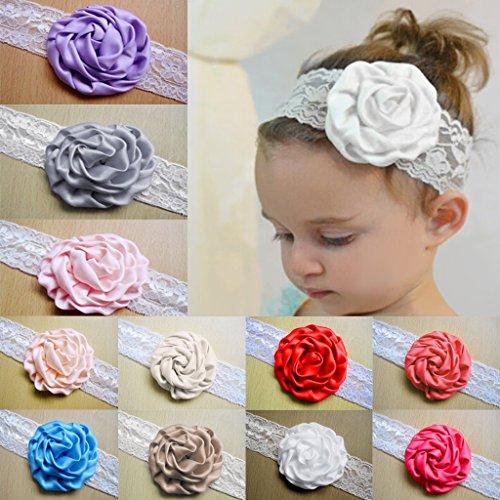 Bandeau élastique Cheveux Enfant Bébé Fille Accessoires Photographie Bijoux Cadeaux Rhodo