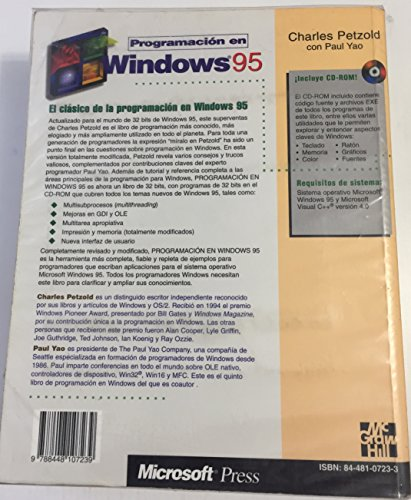 Programacion En Windows 95 por Charles Petzold