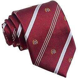 Leisial™ Corbatas de Señores Raya Anchas Traje Corbata Estrecha Accesorios Vestir Regalo de Boda Fiesta Navidad