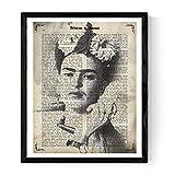 Frida Kahlo gestaltete Grafik mit der Definition von Amistad. Plakat mit Bild von Frida Kahlo in Schwarzweiss in A3 Plakat des mythischen Malers Frida Kahlo. Definitionsblatt. Inneneinrichtung. Rahmen zum Rahmen. Papier 250 Gramm hohe Qualität. Dekorieren Sie Ihr Wohnzimmer, Schlafzimmer oder machen Sie das perfekte Geschenk.