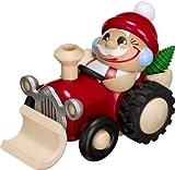 Kugelräucherfiguren Räuchermann Nikolaus im Traktor 12cm Erzgebirge NEU