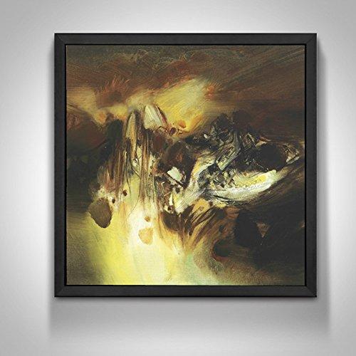REAGONE abstrakte Wohnzimmer Dekoration Malerei Moderne, einfache hängende Wand malen Sofa Hintergrund Wand Triplex Malerei hat Frame Malerei, 33*33, Black Box, Dyk 5621, Einzel Preis