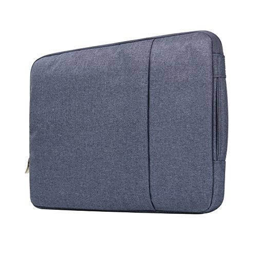 "Price comparison product image Macbook Air 13"" Travel Bag, Macbook Pro 13"" 2016 Sleeve Case, Anrain Laptop Protective Bag Pouch for MacBook Pro 13.3"" Retina Macbook Air 11"" 13"" 12.9"" iPad Pro Acer Dell HP Chromebook, Denim Blue"