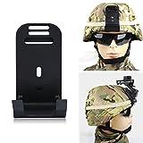 Tbest Accesorio para casco, casco de gafas de aleación de aluminio para cascos MICH con tornillos para montaje Accesorios militares