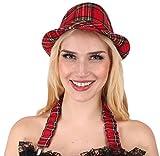 KARNEVALS-GIGANT Punk Kostüm schwarz-grau-rot für Damen | Größe 42 | 1-teiliges Gothic Kostüm | Punker Faschingskostüm für Frauen | Punkerin Kleid für Karneval Test