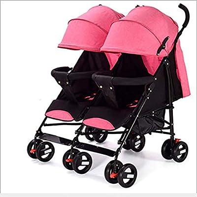 Cochecito doble para recién nacidos, asiento para cochecito Cochecito doble con respaldo ajustable y reposapiés Diseño versátil