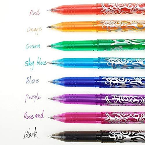 SDGDFXCHN Pluma de gel borrable de 0.5 mm Pluma de escritura mágica Plumas de tinta de diferentes colores