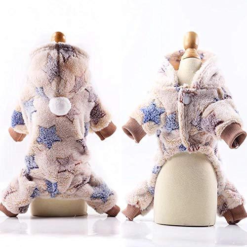 Französische Kostüm Bulldogge - GHYSTORM Haustier Hund Kleidung Winter Warme Fleece Chihuahua Mantel Jacken Welpen Katze Hoodies Kostüme Mops Französische Bulldogge Kleidung XS-XXL-Beige_S