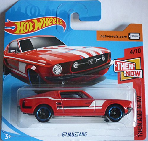 Hot Wheels 2018 '67 Mustang Red 4/10 Then and Now 20/365 (Short Card)