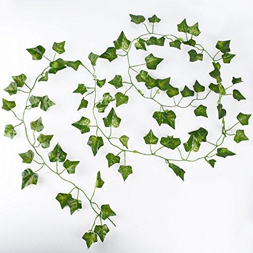 Aoner 12 tralci 2 metri edera artificiale foglie finta for Edera finta ikea