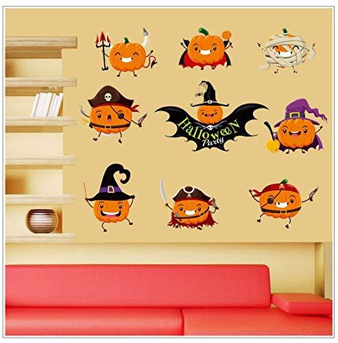 PVC Halloween Kürbis Fenster Wohnzimmer Ecke Aufkleber Wand Dekorative 45X60 cm ()