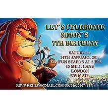Maison 5 Cartes Invitation Anniversaire Le Roi Lion 02