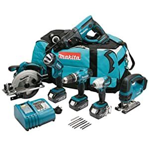Makita DK1829 18V LXT Cordless Lithium-Ion Kit with Batteries (Pack of 6)