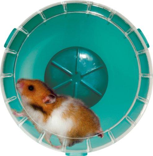 Roue silencieuse RodyLounge bleu lagon SILENT WHEEL diamètre 14 cm environ (hamsters et gerbilles). ! Vérifier si la taille convient à votre animal.