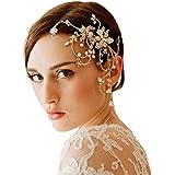 Santfe estilo vintage con flores hecho a mano peine novia joya de la boda accesorios para el pelo