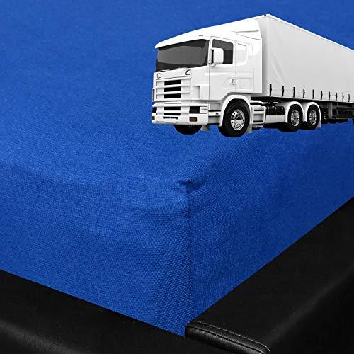G BETTWARENSHOP Spannbettlaken für LKW Truck Matratzen Royalblau, 60x200 cm - Lkw Matratze