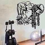 guijiumai Turnhalle Name Aufkleber Fitness Eisenkette Crossfit Hantel Aufkleber Bodybuilding Poster...