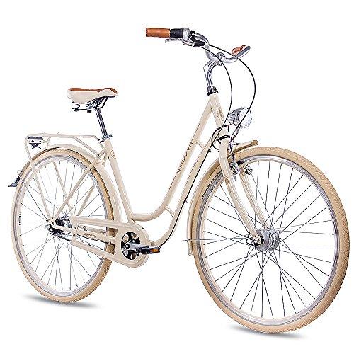 "CHRISSON 28"" Zoll Vintage CITYBIKE DAMENRAD Fahrrad N Lady mit 7G Shimano Nexus Creme"