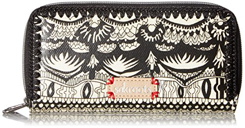 sakroots-artist-circle-double-zip-wallet-donna-multicolore
