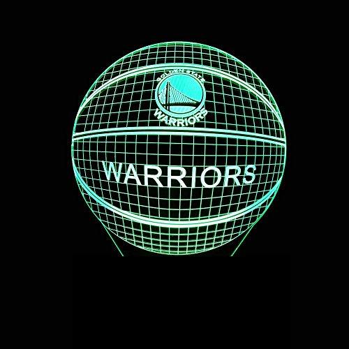 HMer 3D Optical Illusion LED Nachtlicht NBA-Basketball-3D-Nachtlicht berührt Fernbedienung bunten 3D-stereoskopische 3D-LED-SchreibtischlampeWeihnachts geschenk