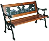 Mickey & Minnie Mouse. Childrens Garden Bench. (Wood & Cast Iron)