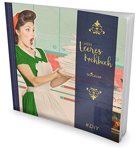 """GOCKLER® Leeres Kochbuch: Ein Rezeptbuch zum Selbstgestalten / Selberschreiben • Für 100 Lieblingsrezepte, mit Register uvm. • DesignArt """"Vintage"""" • Softcover, ca. 21 x 21 cm"""