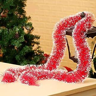 Cosanter 1PCS Cinta de Navidad de Navidad Cintas para Decorativas árbol Navidad Boda Partido Espumillón Guirnalda Adornos de Navidad (Rosa) 200cm