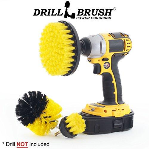 Drillbrush Neue Schnellwechselwelle Wanne und Fliesen Leistung Badezimmer Bürste Kit gelb