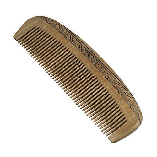 Bao Core Peigne En Acajou Sculpté Peigne Demeloir Peigne à Main Portable Antistatique Comb Pour Unisexe Massage de Cuir Chevelu Cheveux Maison Salon de coiffure Coiffeur Professionnel Forme de Demi-Lune