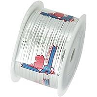 EDGEAM Rivestito di Plastica del Nastro Metallico Legame di Torsione Per la Sigillatura di Cuocere il Pane Confezioni di Caramelle Filo (Argento)