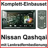 Komplett-Set Nissan Qashqai J10 Sony XAV-W651BT Bluetooth USB CD DVD MP3 Autoradio 2-DIN Moniceiver Touchscreen Freisprecheinrichtung
