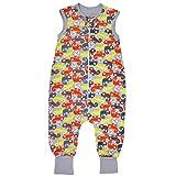 TupTam Unisex Babyschlafsack mit Beinen Unwattiert, Farbe: Chamäleons Orange/Grau, Größe: 80-86