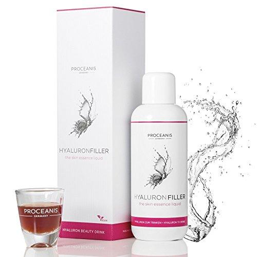 Hyaluron-Filler zum Trinken/Anti-Aging Beauty Drink mit Hyaluronsäure, 25 Tage Anwendung für schöne Haut, 10ml tägl. Vegan, hochdosiert, Made in DE
