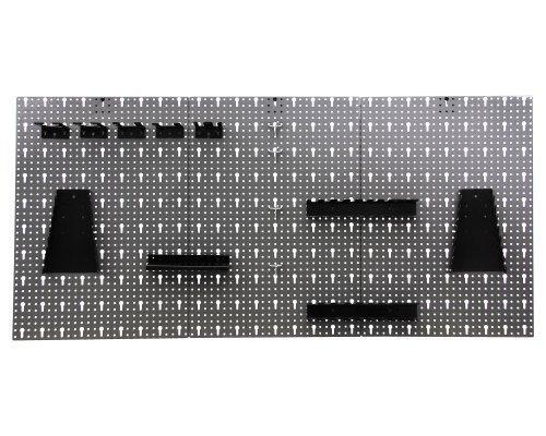 Werkzeugwand Lochwand mit 17 -tlg.Hakensortiment Werkstatt aus Metall