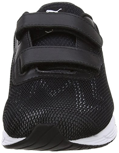Puma Engine V Ps, Sneakers Basses Mixte Enfant Blanc (Puma White-puma Black 01)