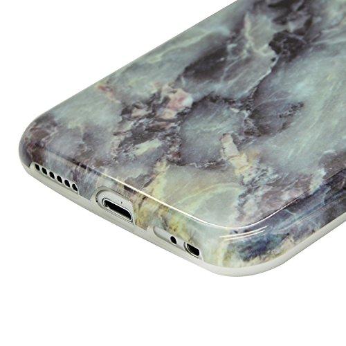 Coque iPhone 8 Rigide en Mat givré en caoutchouc,Sunroyal Soft Coque Imprimer Cristal pour iPhone 8 Slim Coque Housse Etui Silicone TPU Étui Housse Souple Antichoc Protecteur Cover Case Marbre Désign  Motif 35