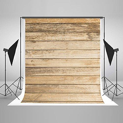 KateHome PHOTOSTUDIOS 1,5x2,2m Holz Hintergrund Mikrofaser Hellbraun Holz Textur Fotografie Hintergrund Retro Portrait Foto Studios Hintergrund