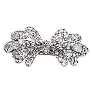 Bodhi2000 Schmetterling Blume Haarspange Strass Haarspangen Headwear für Damen Mädchen
