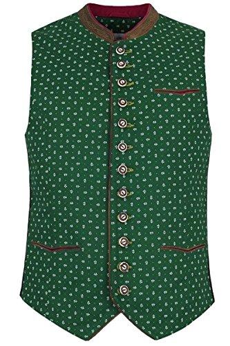 Herren Almsach Herren Trachten Weste grün, Grün, 50