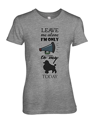 Leave Me Alone I'm Only Talking To My Dogs Today Damen T-Shirt Grau