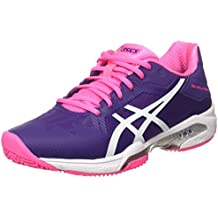 Asics - Gel Solution Speed 3 Clay, color morado,rosa, talla UK-5