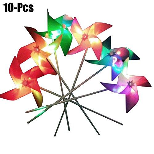 inder Windrad LED Beleuchtung Windmühle Spielzeug für Party (Zufällige Farbe) ()